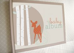 Baby Memory Book, Neutral - Forest Friends (Made to order). $65.00, via Etsy. #pinparty