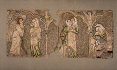 1310-1340, England. Vestment showing Scenes from the Life of the Virgin. Currently in the British Museum.