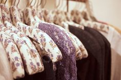 I want these hangers. #Clothing #Hangers #Lace #Purple #Flowers