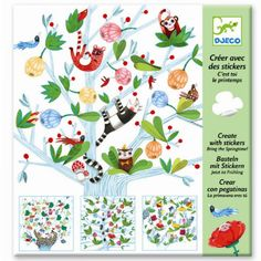 Kreativset Basteln mit Stickern Frühling, Djeco