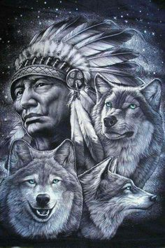 native american indians 48 Ideas Tattoo Wolf Indian Native Americans Two Wolves For 2019 Native American Wolf, Native American Tattoos, Native Tattoos, Native American Pictures, Native American Artwork, American Indian Art, American Indians, Native American Drawing, American Symbols