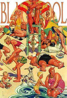 Blackpool Beach Travel Poster