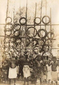 Displays of shell money (tabu) in Rabaul - 1913