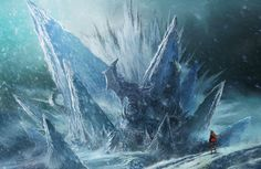 View an image titled 'Frozen Fortress Art' in our Blade & Soul art gallery featuring official character designs, concept art, and promo pictures. Environment Concept Art, Environment Design, Castle Painting, Elemental Magic, Blade And Soul, Mysterious Places, Soul Art, 2d Art, Environmental Art