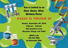 invitation Every Day is an Occasion A Science Party Party
