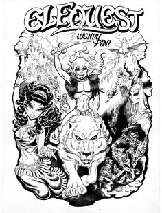Cover of a ElfQuest Portfolio by Wendy Pini