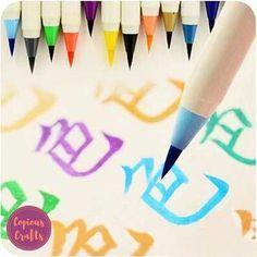 Kawaii Platinum Writing Brush Pens - Set of 5 Colors | Copious Crafts