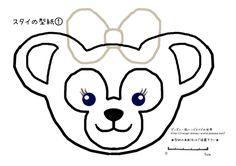ダッフィー着ぐるみの作り方|蓮華のミラコスタウェディング&ちっちゃな宝物 -2ページ目 Duffy The Disney Bear, Bear Drawing, Stencils, Bunny, Cakes, Sewing, My Style, Drawings, Pattern