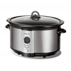 Buy the Morphy Richards - 6 Litre Slow Cooker - Stainless Steel online from Takealot. Ceramic Skillet, Digital Slow Cooker, Domestic Appliances, Kitchen Supplies, Brushed Stainless Steel, Crock, Kitchen Appliances, Things To Sell, Household