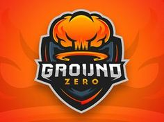 Dribbble - Ground Zero Logo Design by Mason Dickson Gfx Design, Team Logo Design, Mascot Design, Identity Design, Brand Identity, Logo Esport, Bold Logo, Typography Logo, Typography Alphabet