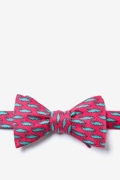 Mini Alligators Self Tie Bow Tie by Alynn Bow Ties