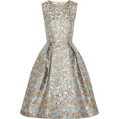 Mary Katrantzou JQ Astere metallic jacquard dress found on Polyvore