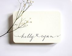 Wedding Calligraphy Names MADE TO ORDER. $85.00, via Etsy.