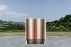 Daniel Buren, lucia giannecchini · Three-coloured Fountain Walls for a Hexagon