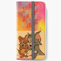 'tom and Jerry cartoon design ' iPhone Wallet by Madhuri Mahajan Tom And Jerry Cartoon, Art Text, Cartoon Design, Iphone Wallet, It Works, Toms, My Arts, Art Prints, Printed