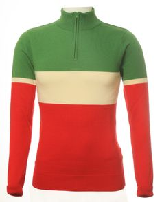 The Italian one! This gorgeous green, ecru and red merino wool cycling jersey from Jura Cycle Clothing Womens Cycling Kit, Cycling Wear, Cycling Jerseys, Cycling Outfit, Cycling Accessories, Bike Style, Green Cream, Long Sleeve, How To Wear