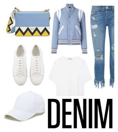 """""""denim"""" by geopaganeli on Polyvore featuring 3x1, Vince, Yves Saint Laurent, Prada and Sole Society"""