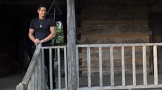 Zak Bagans at the Bell Witch Cabin in Ghost Adventures: Bell Witch Cave Pictures from Travel Channel