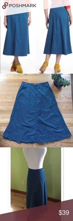 "VV | Anthropologie Corduroy Polka Dot Maxi Skirt Beautiful Vanessa Virginia Skirt from Anthropologie. Featuring a polka dot pattern, this is a fine Corduroy of 100% cotton. Waist measures 16"" across. Length 32"". Hidden side zipper. EUC. Anthropologie Skirts Midi"
