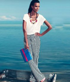 striped trousers from H&M Spring 2012