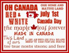 Canada Day Printable - Daily Dish Magazine. Mom was a Canadian citizen, Dad was a member of the Royal Canadian Air Force
