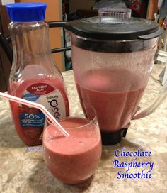 How To Have A Fun #GirlsNightIn – #Recipe for Chocolate Raspberry Smoothie With Trop50 Raspberry Acai