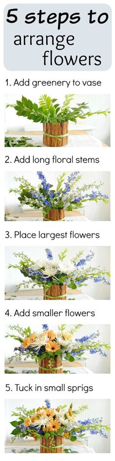 See how easy it is to create stunning floral arrangements in 5 easy steps!