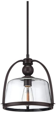 Quoizel - you've done it again. This is a stylish modernized rendition of the classic nautical lantern. I like the look!   Piccolo Bronze 11 1/2-Inch-W Mini Pendant Light - #EU2F387 - Euro Style Lighting