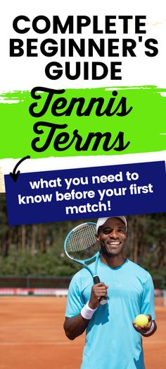 If you are a beginner tennis player then you will want to know what these tennis terms mean before your first tennis match. Tennis Grips, Tennis Bag, Tennis Match, Play Tennis, Tennis Racket, Different Types Of Shots, Tennis Scores, Drop Shot