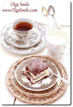 Tiramisu Olgi Smile Tiramisu, Tea Cups, Plates, Smile, Breakfast, Tableware, Food, Licence Plates, Morning Coffee