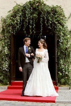 The wedding of Prince Franz Albrecht Oettingen-Spielberg and Baroness Cleopatra Von Adelsheim