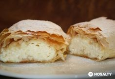 Hungarian pastry (must translate) Strudel, Cottage Cheese, Cake Cookies, Feta, Delish, Sweet Treats, Bakery, Food And Drink, Favorite Recipes