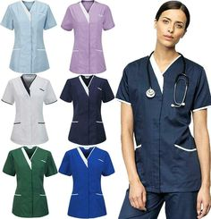 Adaptable Medical Scrub Unisex Hospital Top Surgical Doctor Operating Vets Medical Tunic Crazy Price Women's Clothing