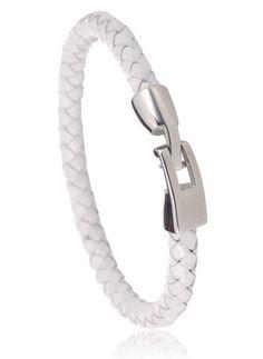Bracelet cuir blanc Sicilia