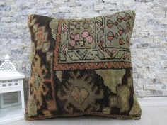 natural rug pillow 16x16 handmade rug pillow decorative pillow sofa pillow 16x16 rug pillow tribal pillow throw pillow bohemian pillow