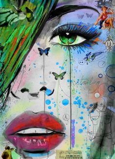 "Saatchi Art Artist Loui Jover; Drawing, ""starling"" #art"