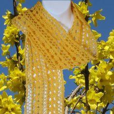 Knit Scarf Pattern  Delicate Lace  Easy Instant by KnittingGuru, $6.95