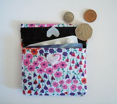 Fave DIY ever- duct tape & fabric wallets! In any size you want. Super easy