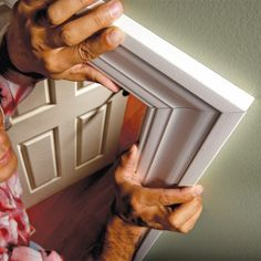 Make furniture-quality miter cuts with these pro tips for measuring and cutting. Learn how to tweak cuts in door and window trim so that joints seem to just disappear. Pro tricks for air-tight joints Do It Yourself Furniture, Do It Yourself Home, Diy Projects To Try, Home Projects, Furniture Making, Diy Furniture, Wicker Furniture, Trim Carpentry, Carpentry Skills