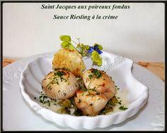 LA TABLE LORRAINE D'AMELIE: Saint Jacques aux poireaux, sauce au Riesling à la crème