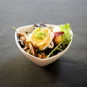 Tapa ensalada Queseria (Foto: Aleksandra Olejnik) www.restaurantevinomio.com