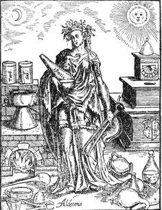 Alchimia, 1571. Xilografia pubblicata da Leonhard Thurneysser nel 1571.