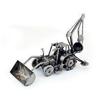 Auto part sculpture, 'Rustic Bulldozer Digger' from @NOVICA, They help #artisans succeed worldwide. By Armando Ramírez