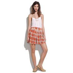Drapey printed silk shorts