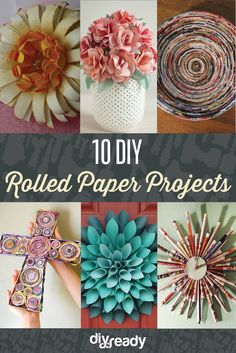 10 DIY Rolled Paper Crafts From Recycled Magazines