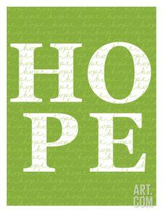 Green Hope Art Print by Avalisa at Art.com