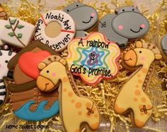 noah baby shower favor  | Home Sweet Cookie: Noah's Ark baby shower themed cookies :)