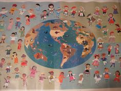 Vintage Children of the World Poster 1959 by solorion on Etsy, $65.00