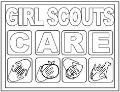 1000 images about girl scout coloring pages on pinterest daisy girl scouts girl scouts and