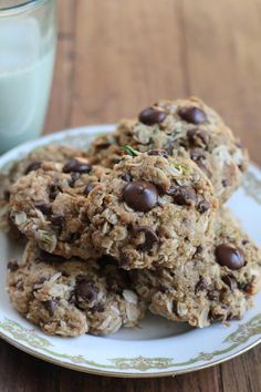 These Zucchini Coconut Chocolate Chip Cookies are soft, chewy and gluten free. Zucchini Cookies, Paleo Cookies, Lemon Cookies, Homemade Cookies, Pecan Cookie Recipes, Halloween Cookie Recipes, Cookie Desserts, Coconut Recipes Breakfast, Coconut Chocolate Chip Cookies